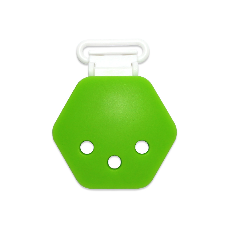Silikonový klip na dudlík - zelený