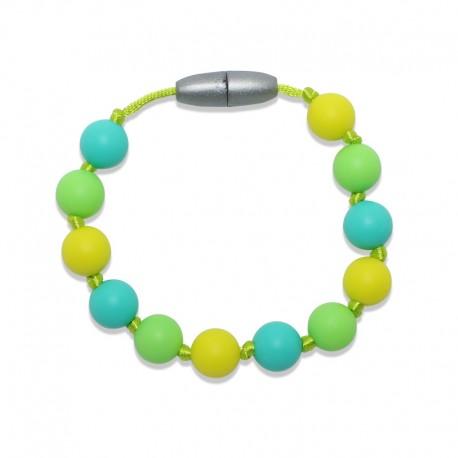 Silikonový náramek citron-tyrkys-zelená