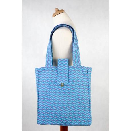 LennyLamb taška přes rameno Zigzag Turquoise & Pink