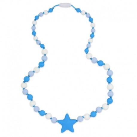 Silikonové korále s modrou hvězdou