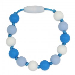 Silikonový náramek modro-bílý