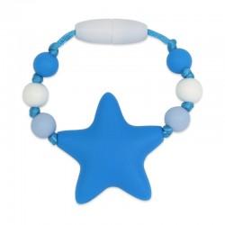 Silikonový kroužek na šátek modrá hvězda