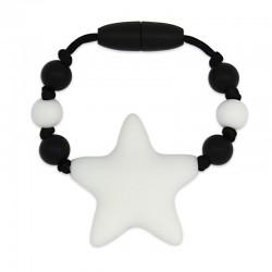 Silikonový kroužek na šátek bílá hvězda