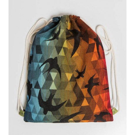 LennyLamb taška SackPack Swallows Rainbow Dark