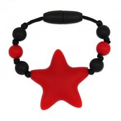 Silikonový kroužek na šátek červená hvězda