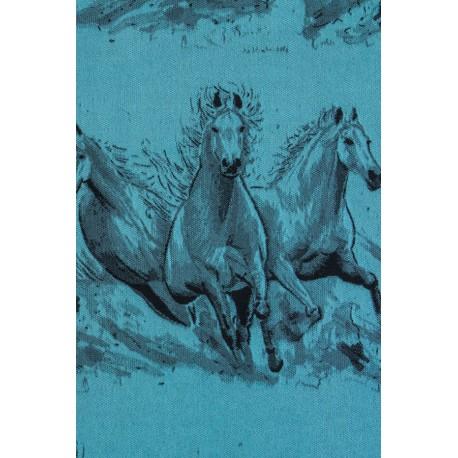 LennyLamb dětské nosítko na panenky Gallop Black & Turquoise