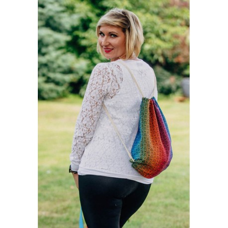LennyLamb taška SackPack Big Love Rainbow Dark