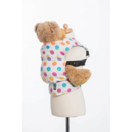 LennyLamb dětské nosítko na panenky Polka Dots Rainbow