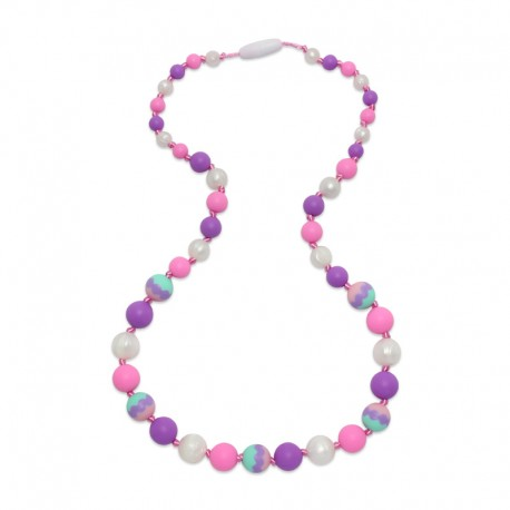 Silikonové korále fialová-růžová-perleť