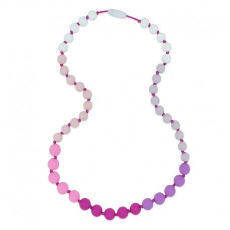 Silikonové korále fialovo-růžové
