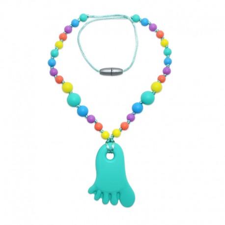 Silikonový náhrdelník tyrkysová nožička 2