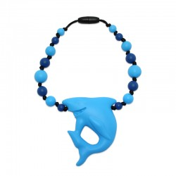 Silikonový přívěsek žralok s korálky