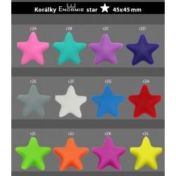 Silikonové korálky hvězdy