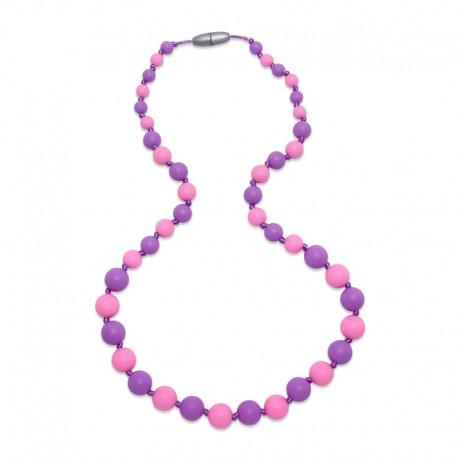 Silikonové korále růžová-fialová