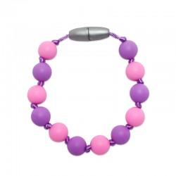 Silikonový náramek růžová-fialová