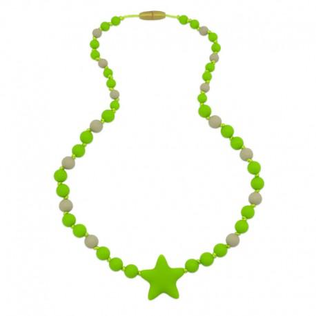 Silikonové korále se zelenou hvězdou