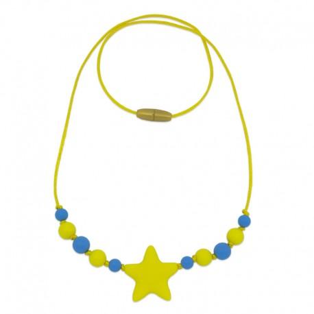 Silikonové korále se žlutou hvězdou
