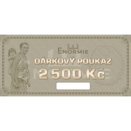 Dárkový poukaz v hodnotě 2500 Kč