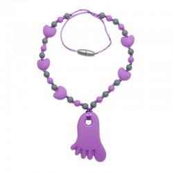 Silikonový náhrdelník fialová nožička 2