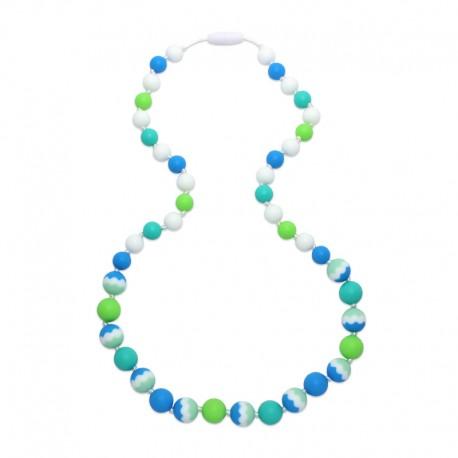 Silikonové korále modrá-tyrkys-zelená
