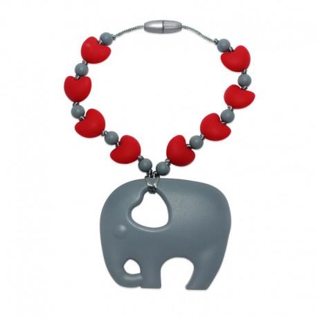 Silikonový přívěsek slon se srdíčky 1