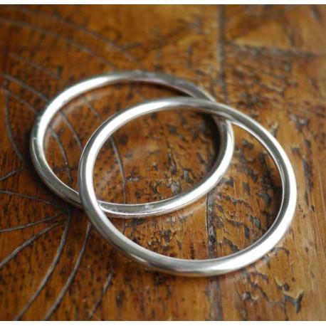 Ring Sling kroužky stříbrné - 1 ks