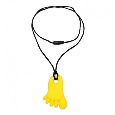 Silikonový přívěsek nožička žlutá