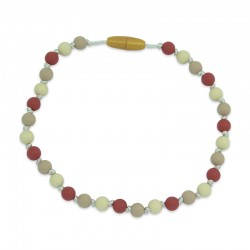 Silikonový náhrdelník pro děti přírodní barvy
