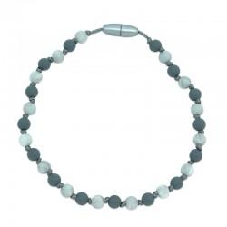 Silikonový náhrdelník pro děti šedo-mramorovaný