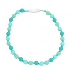Silikonový náhrdelník pro děti tyrkys-mentol-arktický