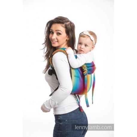 LennyLamb Onbuhimo Toddler Little Herringbone Rainbow Navy Blue