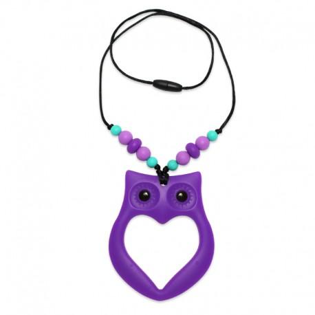 Silikonový náhrdelník sova s korálky