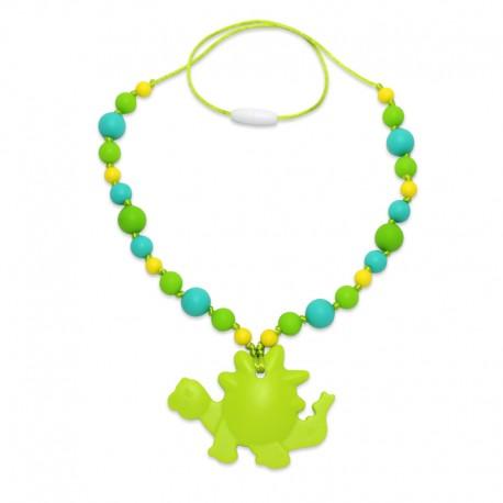 Silikonový náhrdelník dinosaurus s korálky