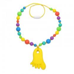 Silikonový náhrdelník nožička s korálky