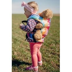 LennyLamb dětské nosítko na panenky Butterfly Rainbow Light