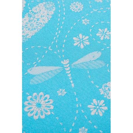 LennyLamb dětské nosítko na panenky Dragonfly Grey & Turquoise