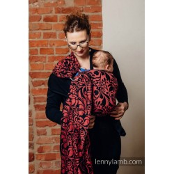 LennyLamb Twisted Leaves - Pinch of Chilli - ring sling šátek