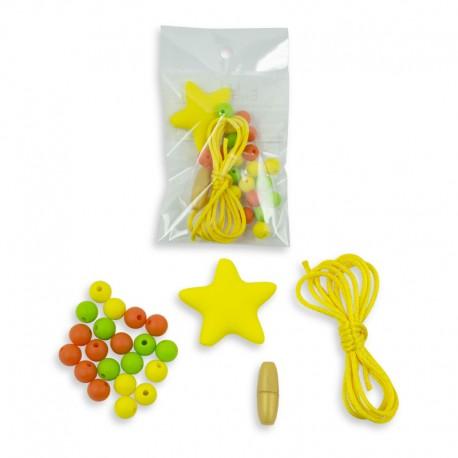 Kreativní sada: dětské silikonové korále s hvězdou