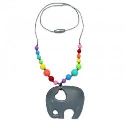 Silikonový náhrdelník slon s korálky