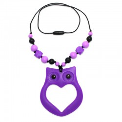 Silikonový náhrdelník sova s korálky 2