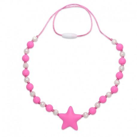 Silikonové korále růžová hvězda 2