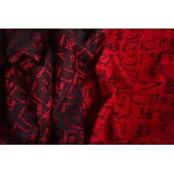 Luluna Hieroglyphs Red/Black