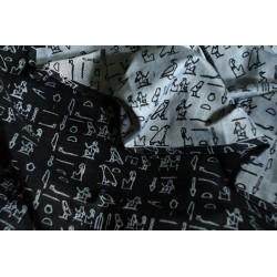 Luluna Hieroglyphs Black/White