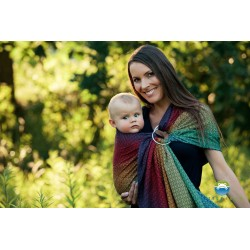 Little Frog Lovely Black Rainbow - ring sling šátek
