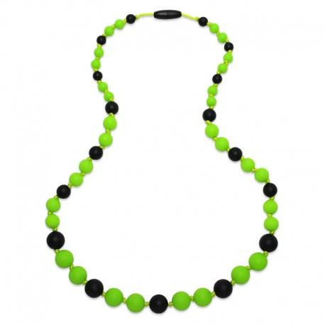 Silikonové korále zelená-černá