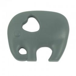 Silikonový přívěsek šedý slon
