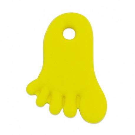 Silikonový přívěsek žlutá nožička