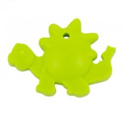 Silikonový přívěsek zelený dinosaurus
