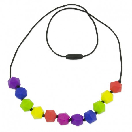 Silikonové korále barevné icosahedrony