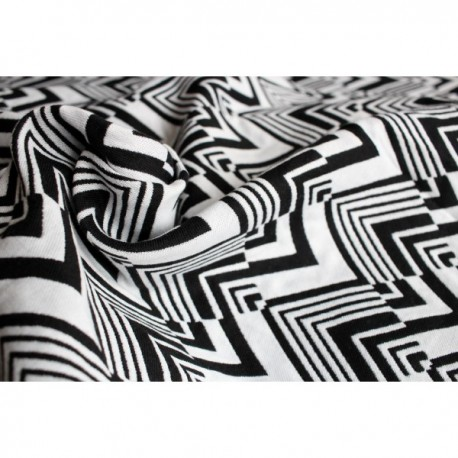 Yaro Ziggy Contra Black-White Wool Repreve Ring Sling